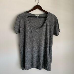 Joie Dark Grey Short Sleeve Scoop Neck Tee Medium